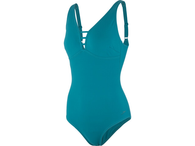 speedo Opalgleam Traje de Baño Mujer, blue